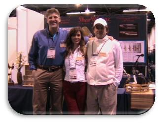 Tom, Mindy, and Theo at NAMM 2009