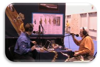 Mike Parlett interviewing Bob Ackerman for his Solar Radio show