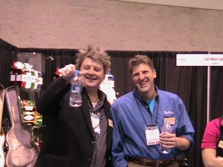 Pro Player Jack Prybylski and Tom Wanne at Winter NAMM 2009